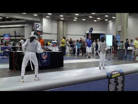 Marissa at US Fencing Nationals 2016