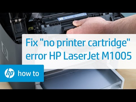 'No Printer Cartridge' Error Displays on the Printer Control Panel - HP LaserJet M1005 MFP