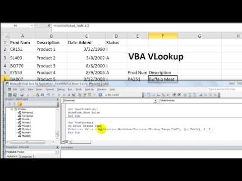 Excel VBA Basics #19 Using VLOOKUP in VBA - Alternate Method