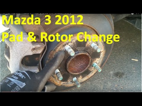 How to Replace Mazda 3 i Rear Brakes with Seized Rotors