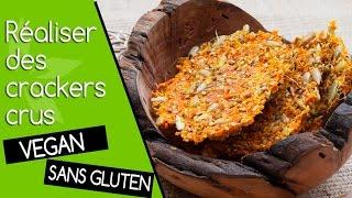 Crackers de légumes crus, utiliser la pulpe de l'extracteur de jus
