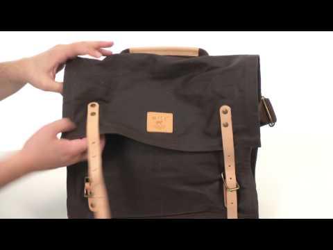 Will Leather Goods Wax Canvas MessengerSKU: 8317464