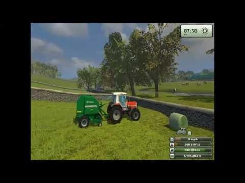 baling grass on farming simulator 2013