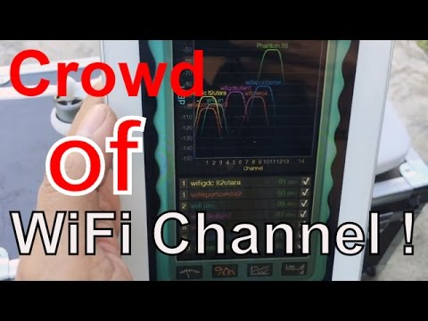 Crazy WiFi signal channel crowd at public place. Interferencing my Phantom 3 Standard - Indonesia