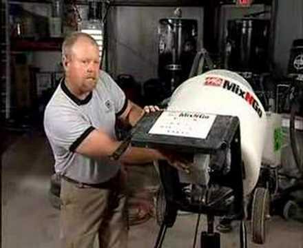 Portable Concrete Mixer Video—ConcreteNetwork.com