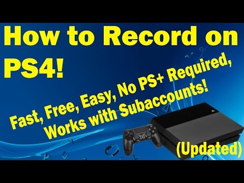 How to Record on a PS4 Sub Account! (Fast, Free, and Simple)