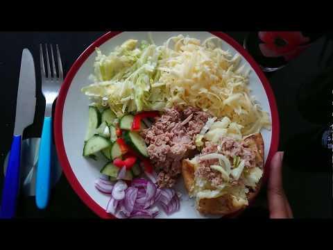 Jacket Potato served with TUNA & SALAD - QUICK SNACK BY AYSHA