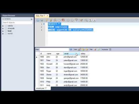SQL Tutorial - 17: Logical Operators (Part-1)