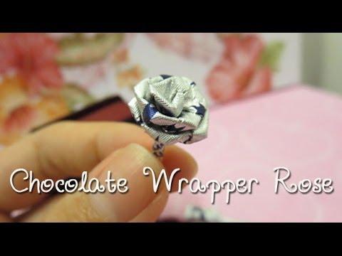 Easy Chocolate Wrapper Rose DIY | Sunny DIY