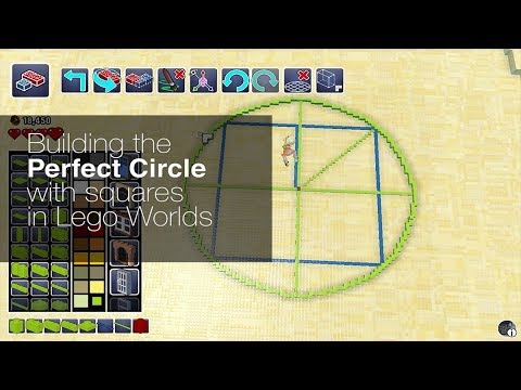 Lego Worlds - How to build a perfect circle