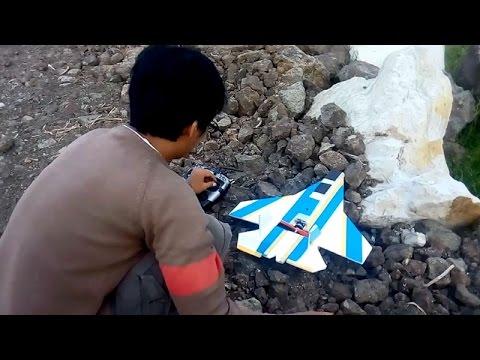 Micro Jet RC Foam Plane Test Flying