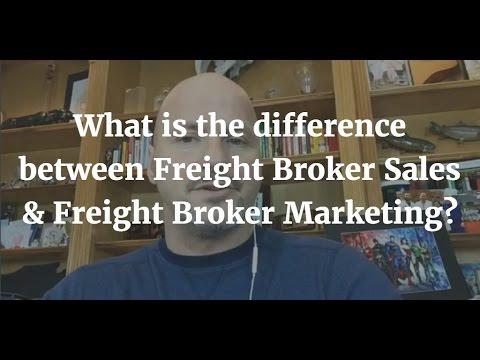 Freight Broker Sales vs. Freight Broker Marketing???
