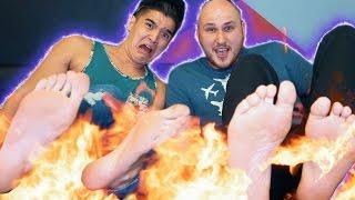 FIRE FEET EXPERIMENT! ft CrazyRussianHacker