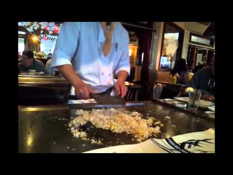 Cooking Egg Fried Rice Japanese style.