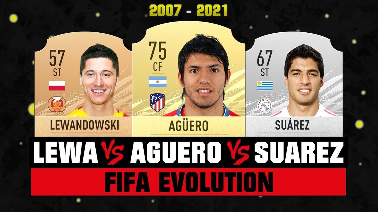 Lewandowski VS Suarez VS Aguero FIFA EVOLUTION! 😱🔥  FIFA 07 - FIFA 21
