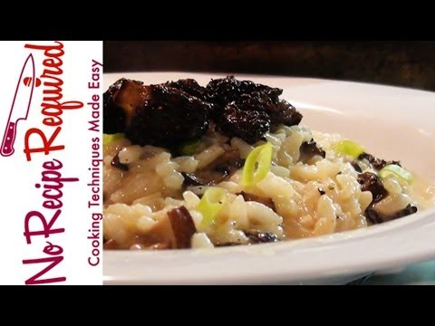 Morel Mushroom Risotto - NoRecipeRequired.com