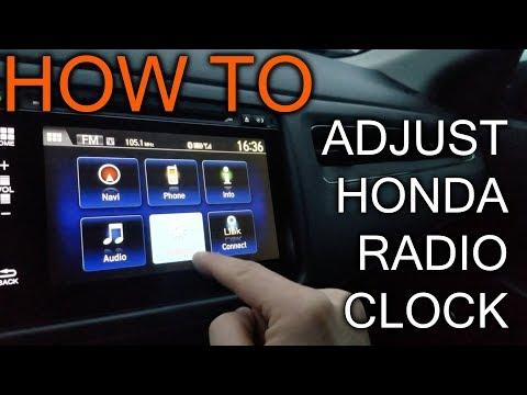 How to adjust Clock on Honda HRV Radio