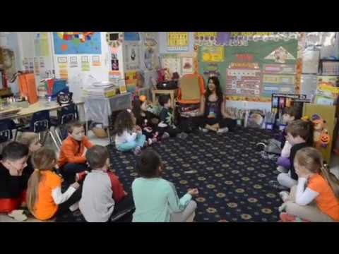 Kindergarteners Practicing Mindfulness In Their Classroom