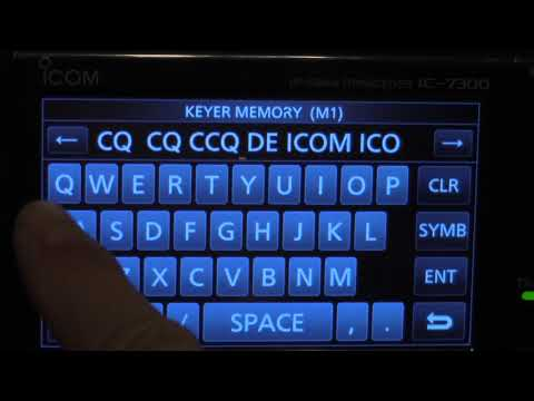 How to program Icom IC 7300 CW Keyer Memory