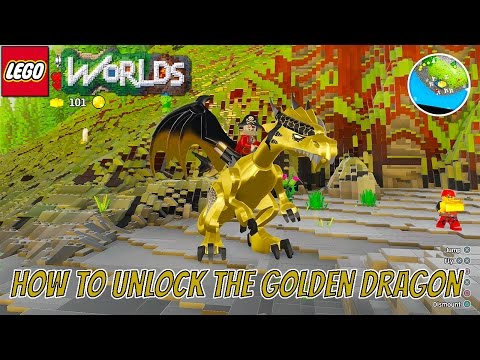 LEGO Worlds How to Unlock the Golden Dragon with Gameplay and World Code