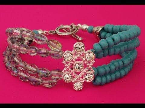 How to Make Multi Strand Bracelet with a Slider