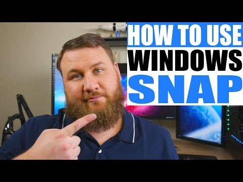 How to Use the Windows Snap Feature with Windows 7 and Higher