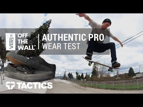 Vans Authentic Pro Skate Shoes Wear Test Review - Tactics.com