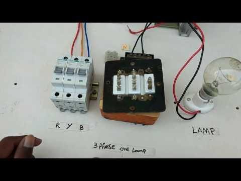 three phase use one lamp - tamil ,one lamp use three phase indicator