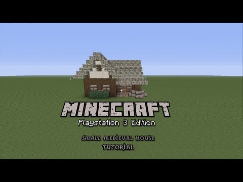 Minecraft PS3/PS4: How To Build A Small Medieval House