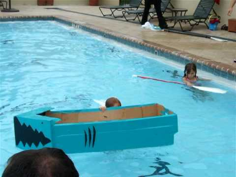 Cardboard and Duct tape boat race !
