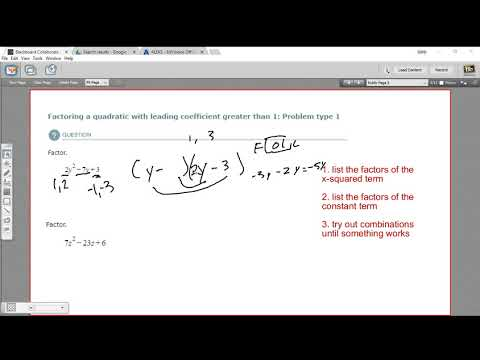 Factoring a quadratic with a leading coefficient greater than 1 - problem type 1