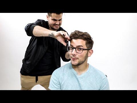 Textured Mens Haircut Tutorial for Thick Wavy Hair | MATT BECK VLOG 110