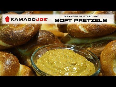 Kamado Joe Soft Pretzels with Guinness Mustard