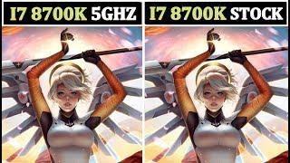 i7 8700K 5GHz OC vs Stock GTA V (Titan Xp OC) 1440p