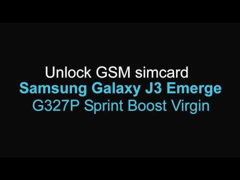 Unlock GSM Samsung Galaxy J3 Emerge J327P Sprint Boost Virgin