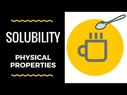 Solubility-Physical Properties
