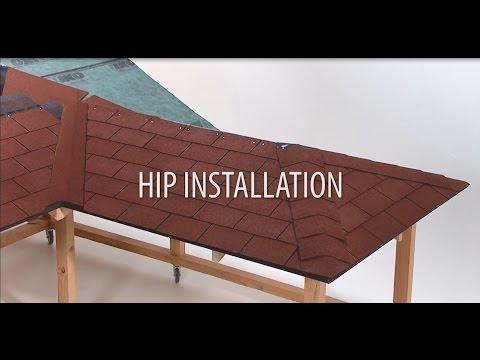 Installing hips on shingles roof