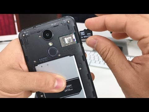 How to install SD and SIM card into LG Aristo 2