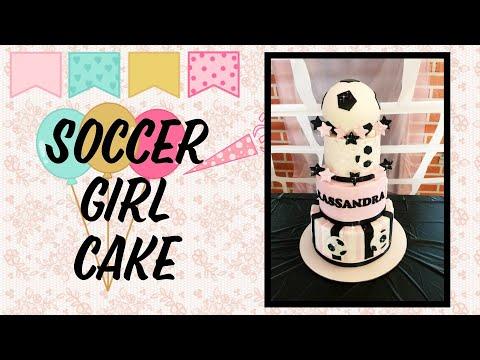 Soccer girl cake /pastel de soccer para niña⚽️⚽️