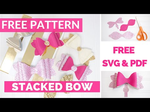 Girls French Hair Bow Tutorial & Free Pattern