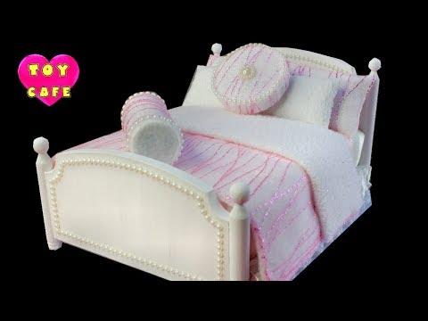 Princess Bed #1, Miniature Doll Bed DIY