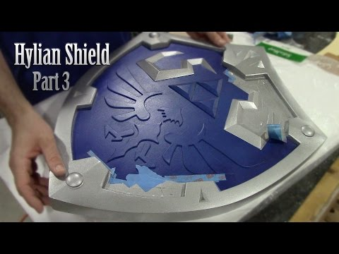 How to make Link's Hylian Shield PART 3 - Skyward Sword Zelda Cosplay