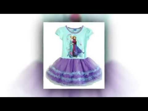Frozen Disney Queen Princess Elsa and Anna Child Girls Dress Skirt 120cm