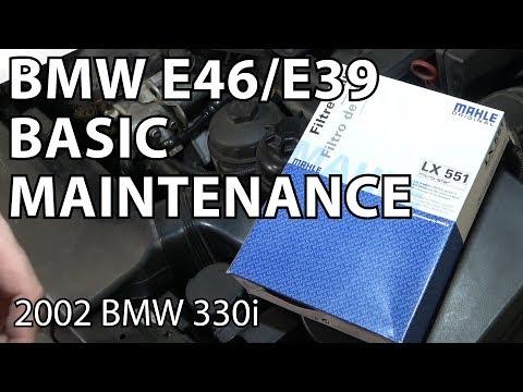 E46 Basic Maintenance Items - Air Filters & Fluids