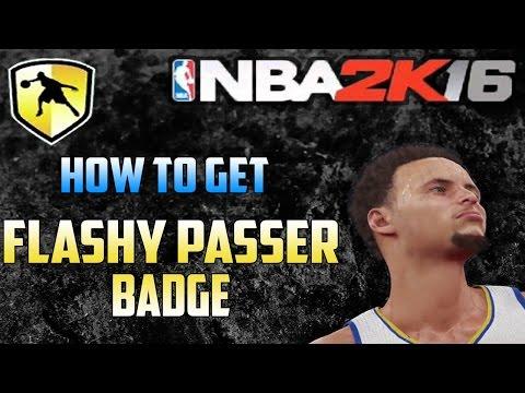 NBA2K16 Flashy Passer Badge Tutorial - How to Throw Flashy/Fancy Passes