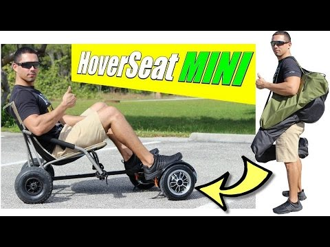 HoverSeat MINI Hoverboard Sitting Attachment. Hoverboard Cart Folds Down Into Portable Size!