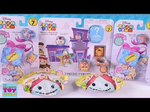 Disney Series 7 Tsum Tsum Palooza Stack Pack Tsumprise Toy Review   PSToyReviews