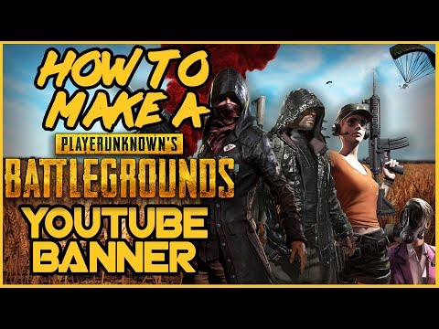 How To Make a YouTube Banner in Photoshop! PlayerUnknowns Battlegrounds Channel Art Tutorial!
