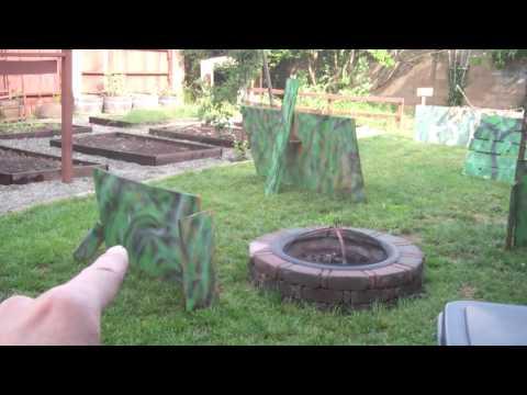 Nerf gun birthday battlefield (out of scrap wood)