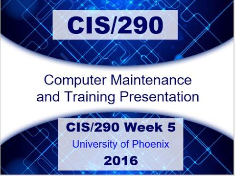 CIS/290 WEEK 5 TRAINING MANUAL PRESENTATION